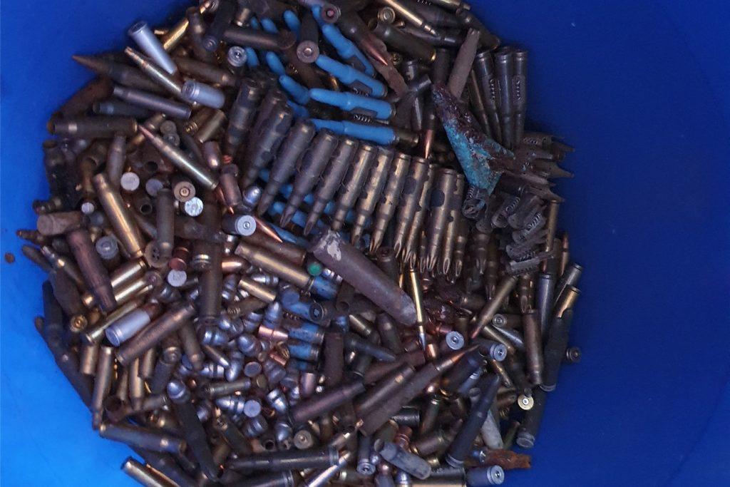 Ob Munition oder alte Zünder: Was im Haus an der Palzstraße alles gefunden wurde, kann sich kaum einer vorstellen.