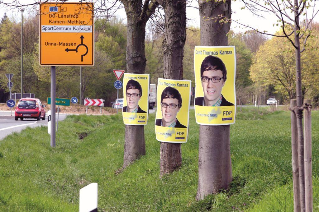 Das wilde Plakatieren der FDP bei der Landtagswahl 2010 hatte für heftige Diskussionen gesorgt. Die Partei sperrte sich gegen das damalige Wahlkampf-Abkommen.