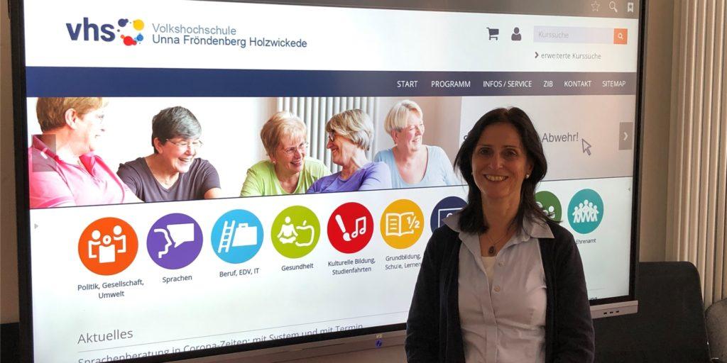 Seit dem 1. Juli 2020 ist Brigitte Schubert die neue Chefin der Volkshochschule Unna Fröndenberg Holzwickede.
