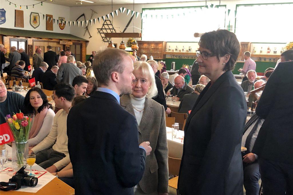 Sabina Müller beim Neujahrsempfang 2020 der Fröndenberger SPD: Bürgernähe und das Streben nach Chancengleichheit sind für die 51-Jährige zwei wichtige Aufgaben einer Bürgermeisterin und Verwaltungschefin.
