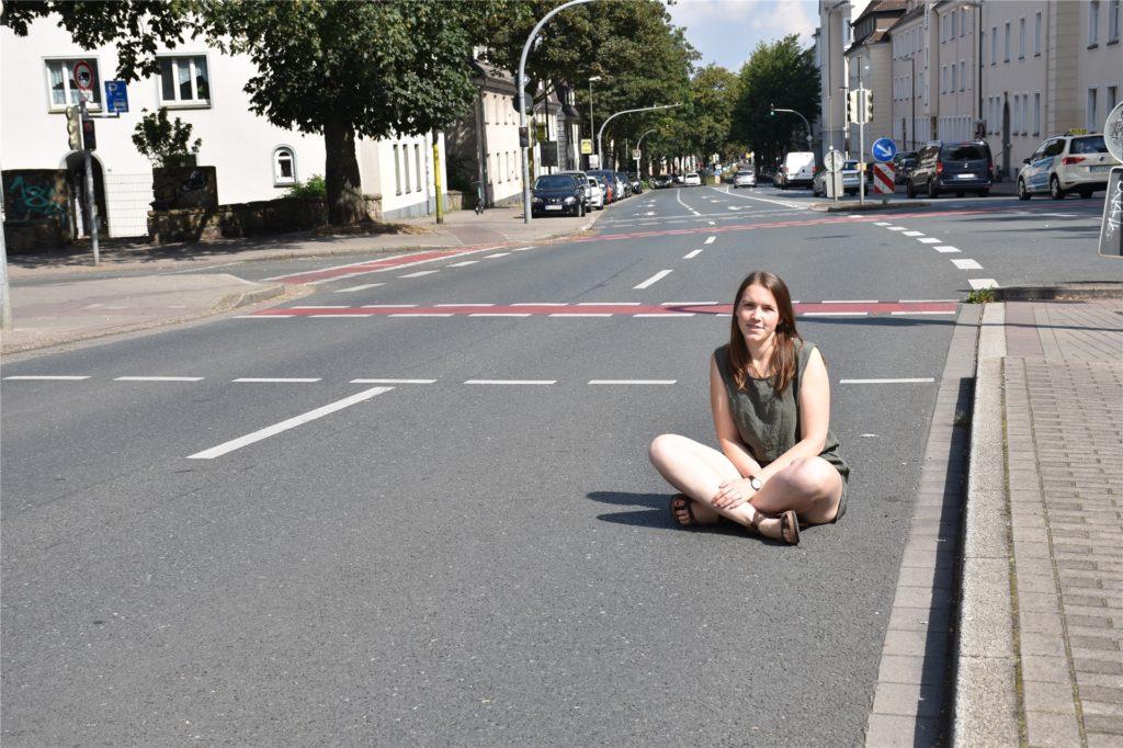 Amelie Meier möchte sich für ein klimaneutrales Deutschland einsetzen - später im Beruf und am vergangenen Wochenende auf der Straße.