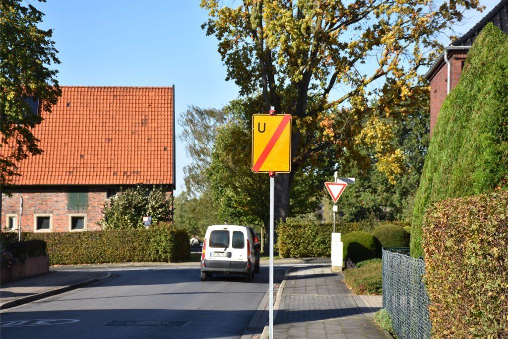 Am Ende der Straße Dornberg ist Schluss mit der Umleitung.