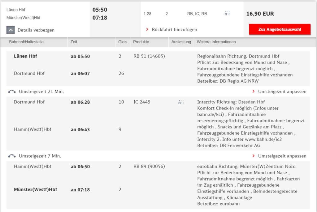 Laut der Fahrplan-App rauscht die Eurobahn in den Morgenstunden am Lüner Hauptbahnhof vorbei, hält aber in Preußen und in Werne. Dabei handelt es sich um einen Fehler im System: Die Bahn fährt und hält auch in Lünen, bestätigt die Eurobahn.