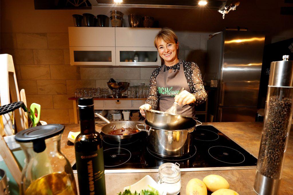 Andrea Barczewski betreibt die Kochlounge auf dem Hof Sümmermann in Frömern.