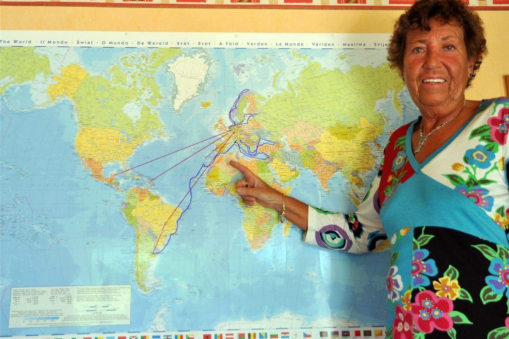 Französin Odile Meier kam vor 49 Jahren aus Paris nach Lünen und ist glücklich hier. Sie hat schon viel von der Welt gesehen.