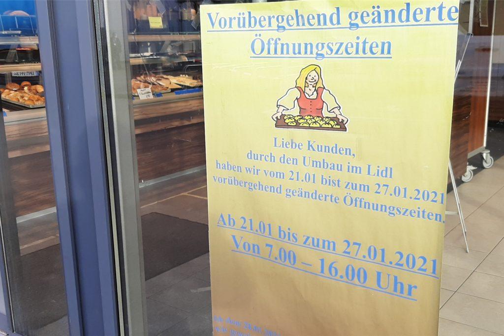 Die Bäckerei Heuel verkürzt während des Lidl-Umbaus ihre Öffnungszeiten.