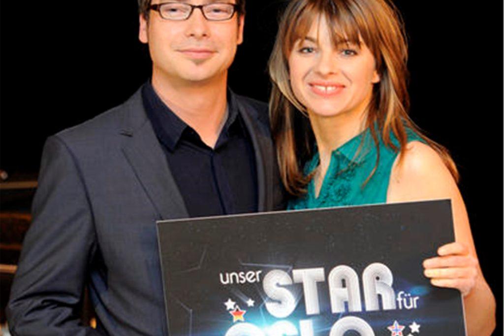Das Moderatorenduo Sabine Heinrich und Matthias Opdenhövel posierte im Jahr 2010 für die Show-Reihe
