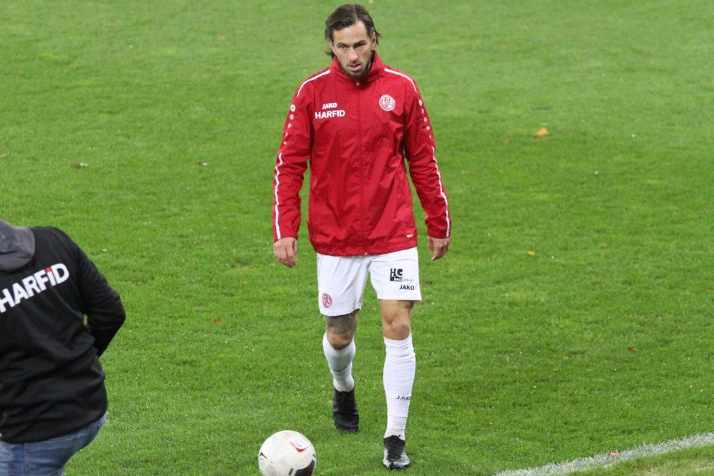 Felix Backszat markierte das 2:0 für RWE und sorgte damit für die Vorentscheidung.