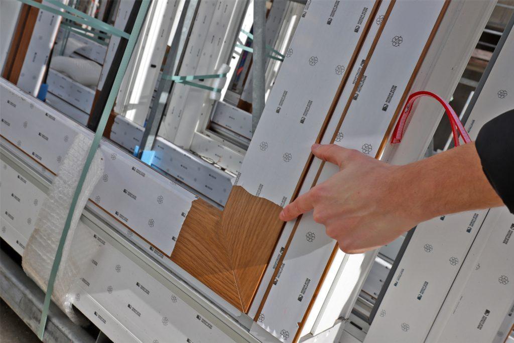 Die Kunststofffenster haben eine Holz-Optik, damit sich das Gebäude gut gut in das Nordstraßen-Gefüge einpasst.