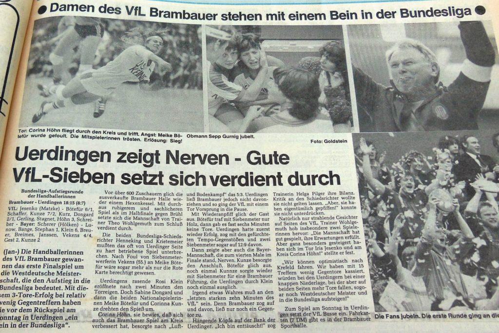 Der Aufstieg in die Bundesliga war damals zum Greifen nahe.