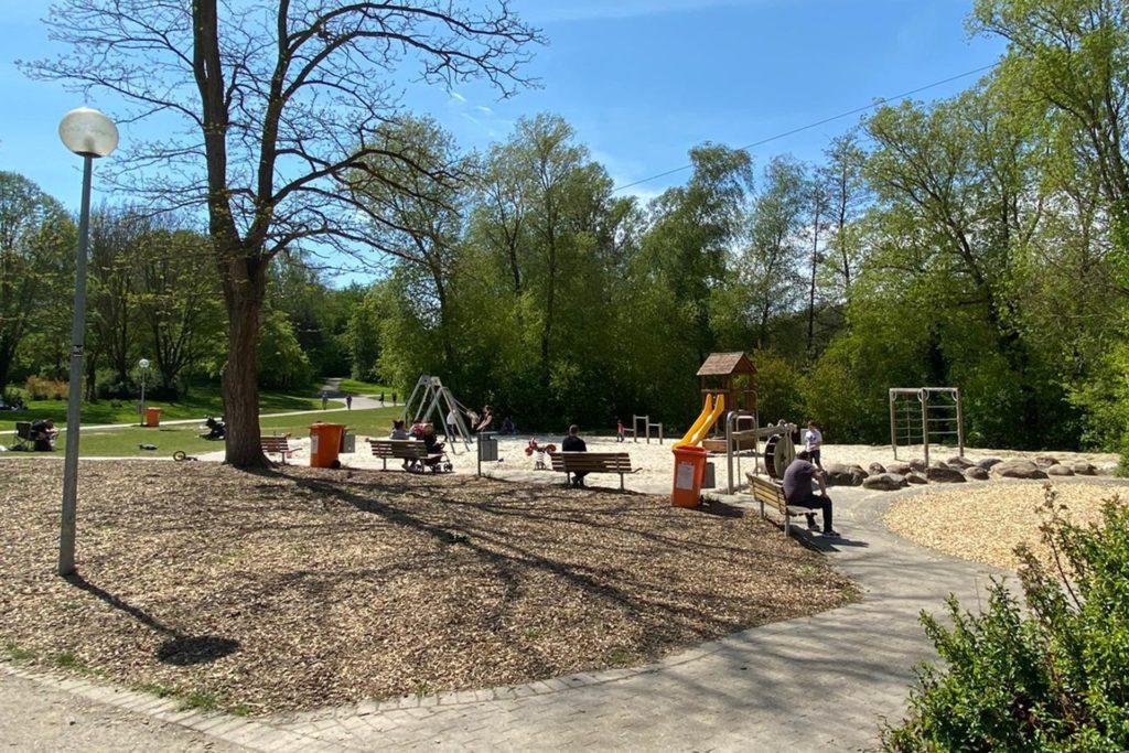 Auch im Revierpark Wischlingen waren nur wenige Masken zu sehen.