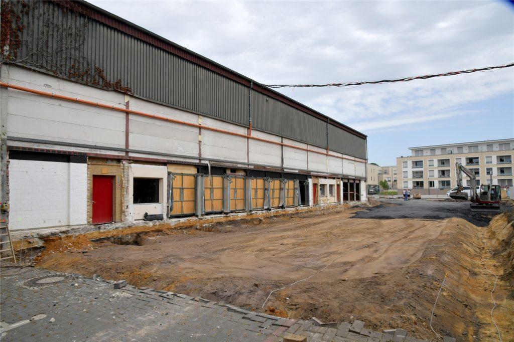 Die Arbeiten an der Dreifachturnhalle am Gymnasium haben im September des vergangenen Jahres begonnen.