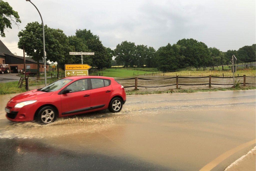 Altendorf wurde vom Starkregen am Donnerstagabend schwer getroffen.