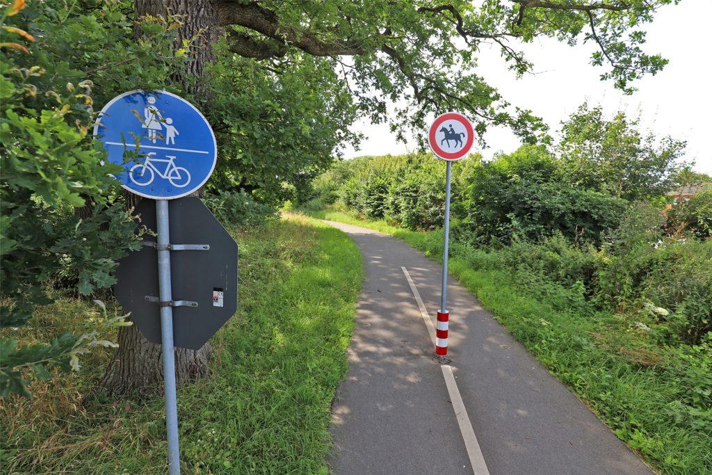 Radwege wie hier in Richtung Ruhrtal gibt es in Opherdicke nicht viele. Radfahren auf der Straße ist aber nach Einschätzung von Bernd Poethig kein Problem. Das Verkehrsaufkommen sei nicht gravierend, sagt er.