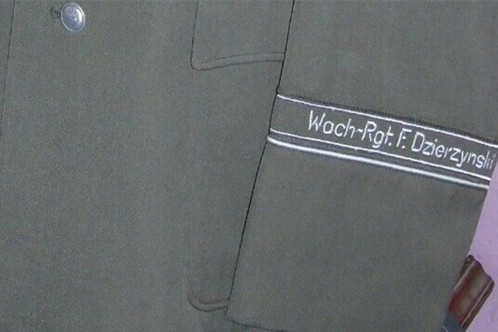 Eine Uniform des Wachregiments