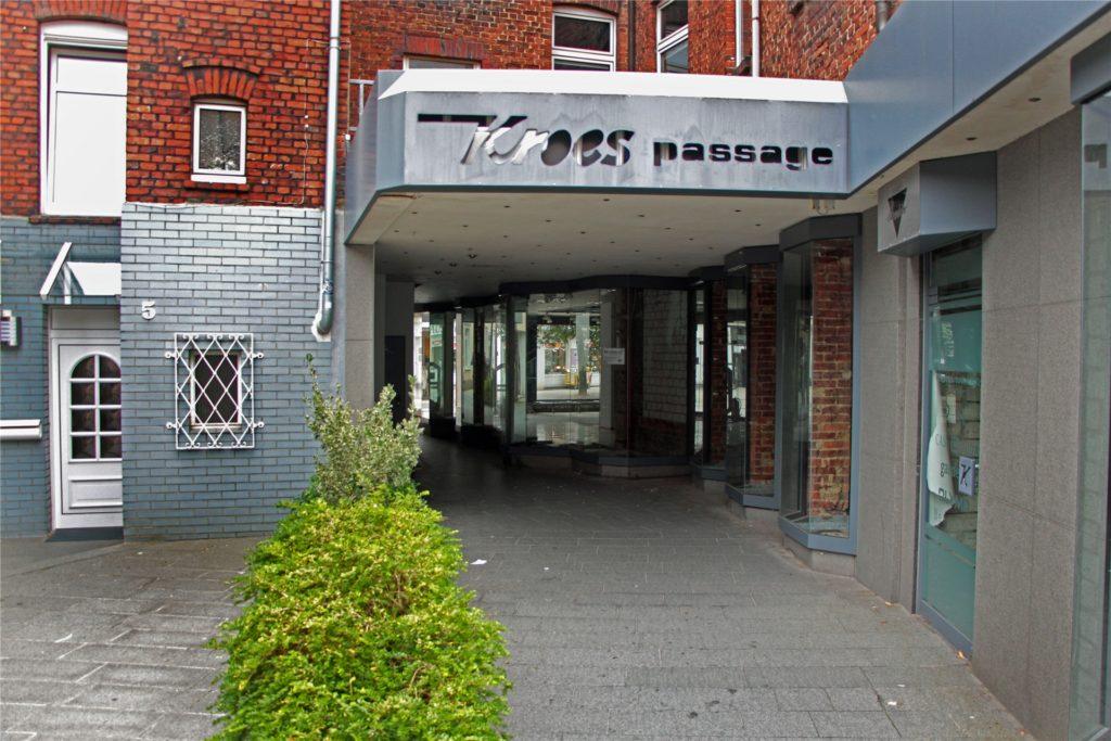 Neuer Angst-Raum in der Werner Innenstadt: die alte Kroes-Passage.