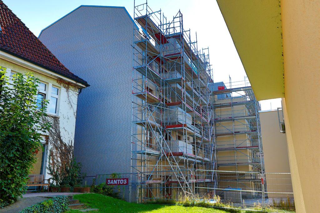 Neues Gebäude an historischem Standort. Dort, wo früher das Möbelhaus Möcking war, steht jetzt die Villa Möcking.