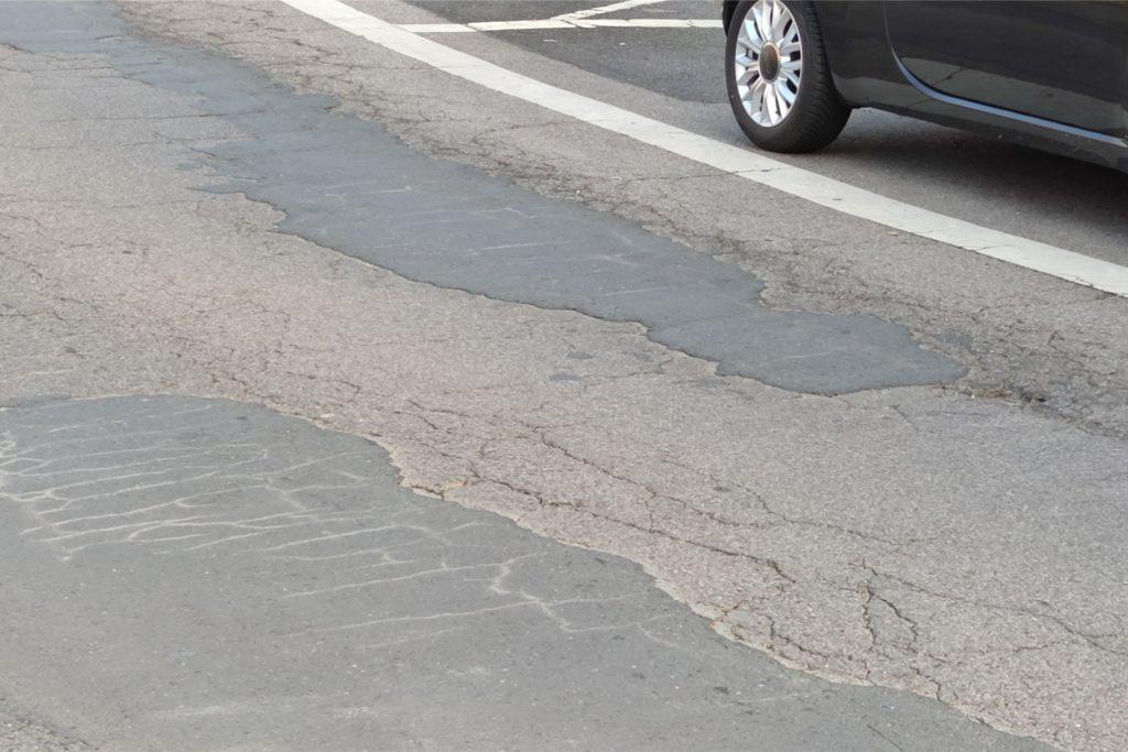 Der Westring in Unna wird neu asphaltiert.